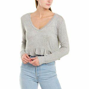 BB Dakota Ruffle Hem Cropped Sweater